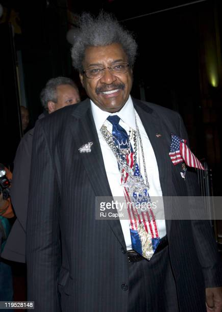 Don King during Don King Hosts a Coronation Party for Zab 'Super' Judah the New World Welterweight Champion at Pink Elephant in New York City New...