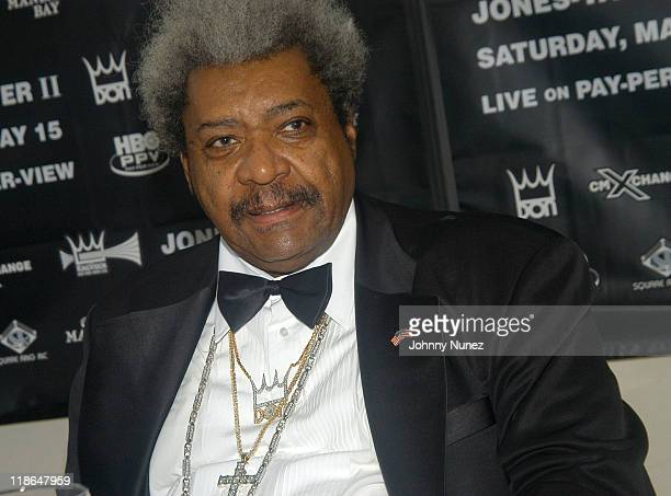 Don King during Roy Jones JrAntonio Tarver II Press Conference at Tavern On The Green in New York City New York United States