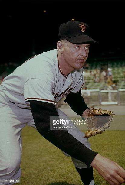 Don Larsen of the San Francisco Giants poses for this photo before a Major League Baseball game circa 1964 Larsen played for the Giants from 196264