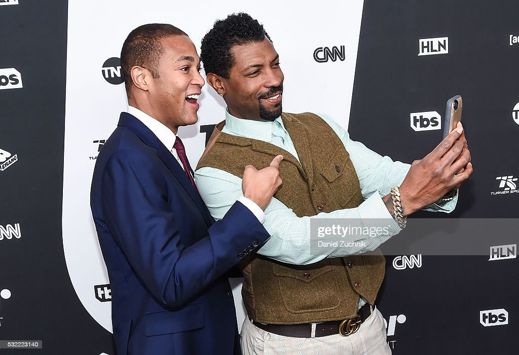 Don Lemon and Deon Cole attend the 2016 Turner Upfront at Nick Stef's Steakhouse on May 18 2016 in New York New York