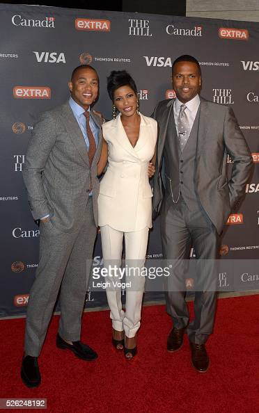 Don Lemon Tamron Hall and AJ Calloway attends The Hill Extra's 2016 White House Correspondents' Association Dinner Weekend Party at the Embassy of...