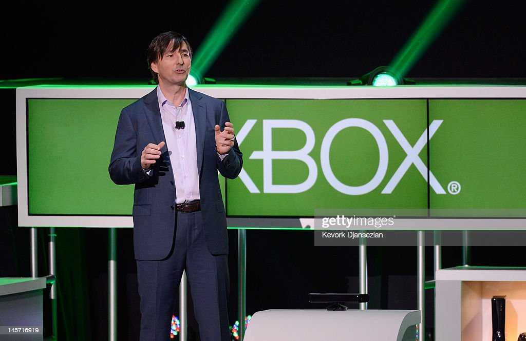 Don Mattrick, president of the Interactive Entertainment Business at Microsoft, speaks during the Microsoft Xbox press conference at the Electronic Entertainment Expo at the Galen Center on June 4, 2012 in Los Angeles, California. Thousands are expected to attend the annual three-day convention to see the latest games and announcements from the gaming industry.