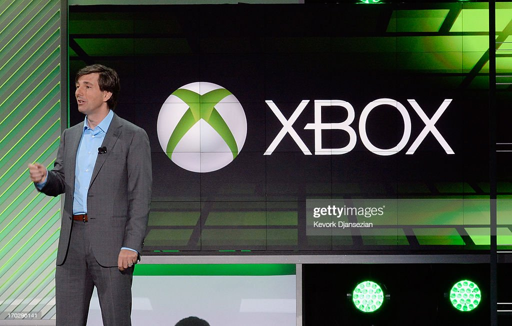 Don Mattrick, president of the Interactive Entertainment Business at Microsoft speaks during Microsoft Xbox news conference at the Electronic Entertainment Expo at the Galen Center on June 10, 2013 in Los Angeles, California. Thousands are expected to attend the annual three-day convention to see the latest games and announcements from the gaming industry.
