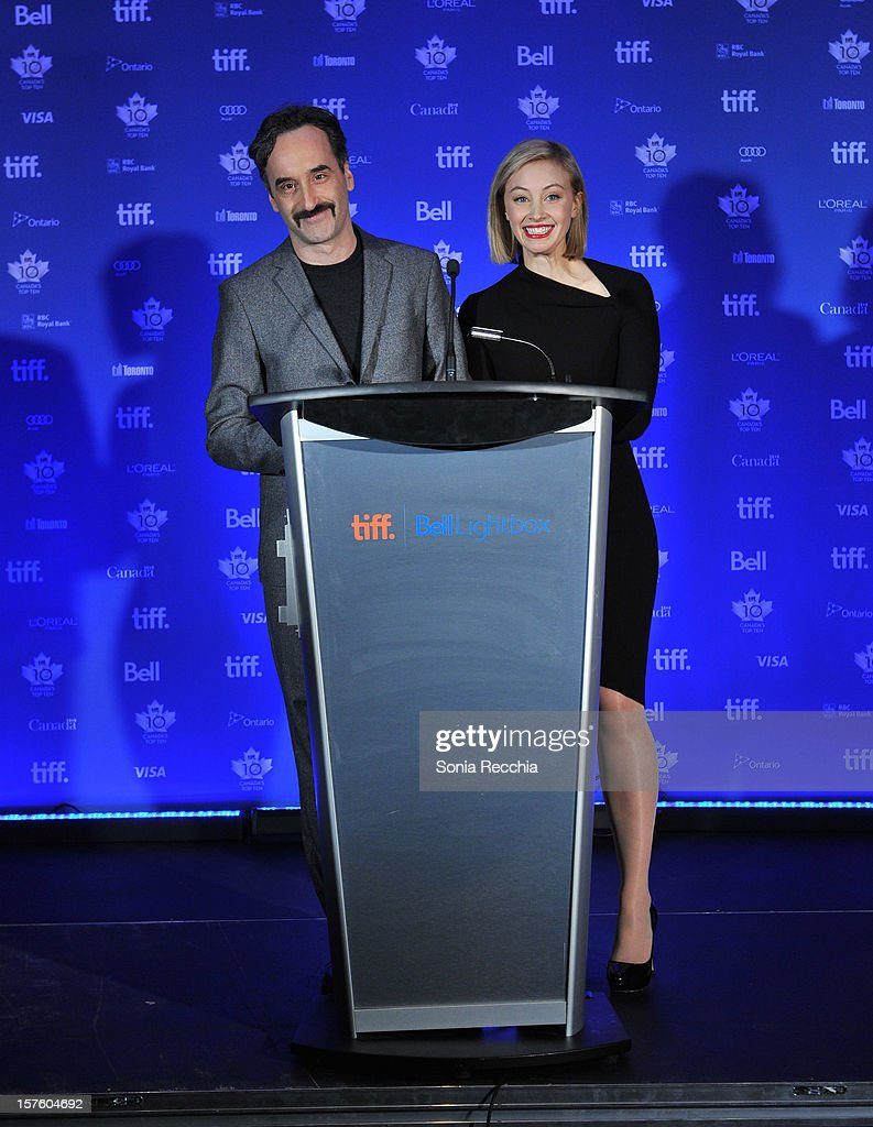 Don McKellar and Sarah Gadon host Canada's Top Ten Announcement/Press Conference at TIFF Bell Lightbox on December 4, 2012 in Toronto, Canada.