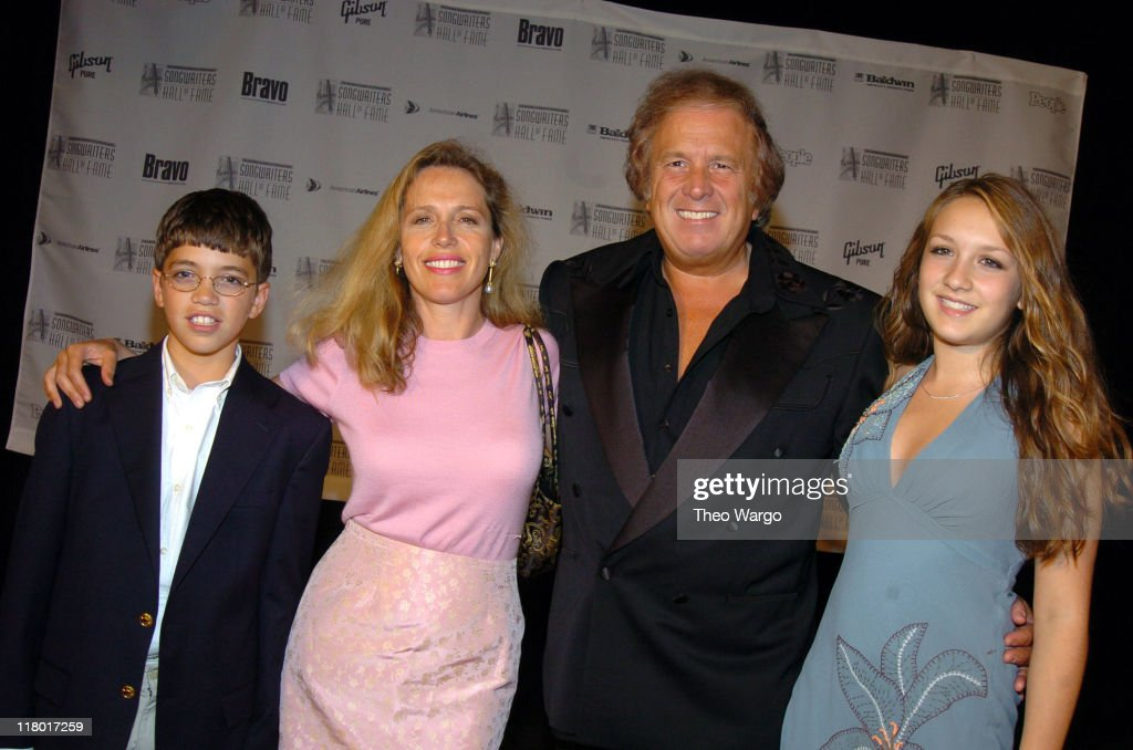 Don McLean and family during 35th Annual Songwriters Hall of Fame Awards Induction - Arrivals at Mariott Marquis Hotel in New York City, New York, United States.