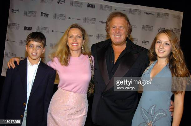 Don McLean and family during 35th Annual Songwriters Hall of Fame Awards Induction Arrivals at Mariott Marquis Hotel in New York City New York United...