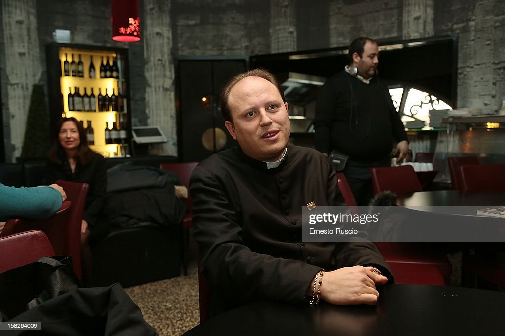 Don Michele Barone attends the Book Launch 'Ora Basta Parlo Io' at Elle Restaurant on December 12, 2012 in Rome, Italy.