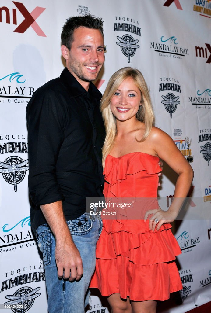 Don Money (L) and actress <a gi-track='captionPersonalityLinkClicked' href=/galleries/search?phrase=Marcy+Rylan&family=editorial&specificpeople=3921843 ng-click='$event.stopPropagation()'>Marcy Rylan</a> arrive at the pre-party for the 2010 Daytime Entertainment Emmy Awards at Mix at THEhotel at Mandalay Bay on June 26, 2010 in Las Vegas, Nevada.