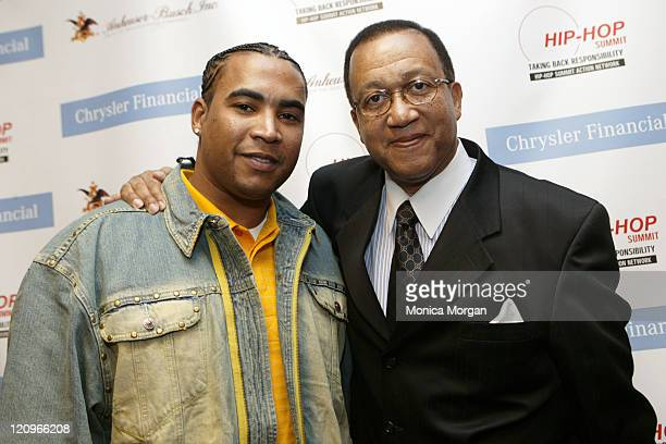 Don Omar and Dr Ben Chavis during 2006 Hip Hop Summit Sponsored By Chrysler Financial at Wayne State University's Bonstelle Theatre in Detroit...