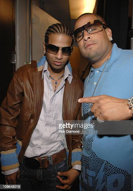 Don Omar and Volito during 2006 Latin Recording Academy Person of The Year Honoring Ricky Martin Backstage at Sheraton Hotel in New York City New...