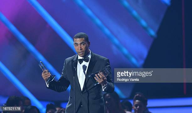 Don Omar on stage at Billboard Latin Music Awards 2013 at Bank United Center on April 25 2013 in Miami Florida