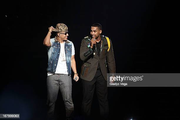 Don Omar performs with Daddy Yankee and Yandel in his concert 'Hecho en Puerto Rico' at Coliseo Jose M Agrelot on May 3 2013 in San Juan Puerto Rico