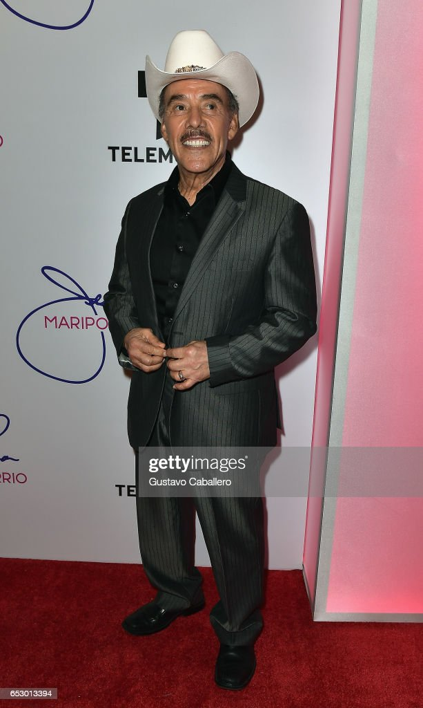 Don Pedro Rivera is seen at the introduction of the cast of 'Jenni Rivera: Mariposa de Barrio' at Telemundo Studios on March 13, 2017 in Miami, Florida.