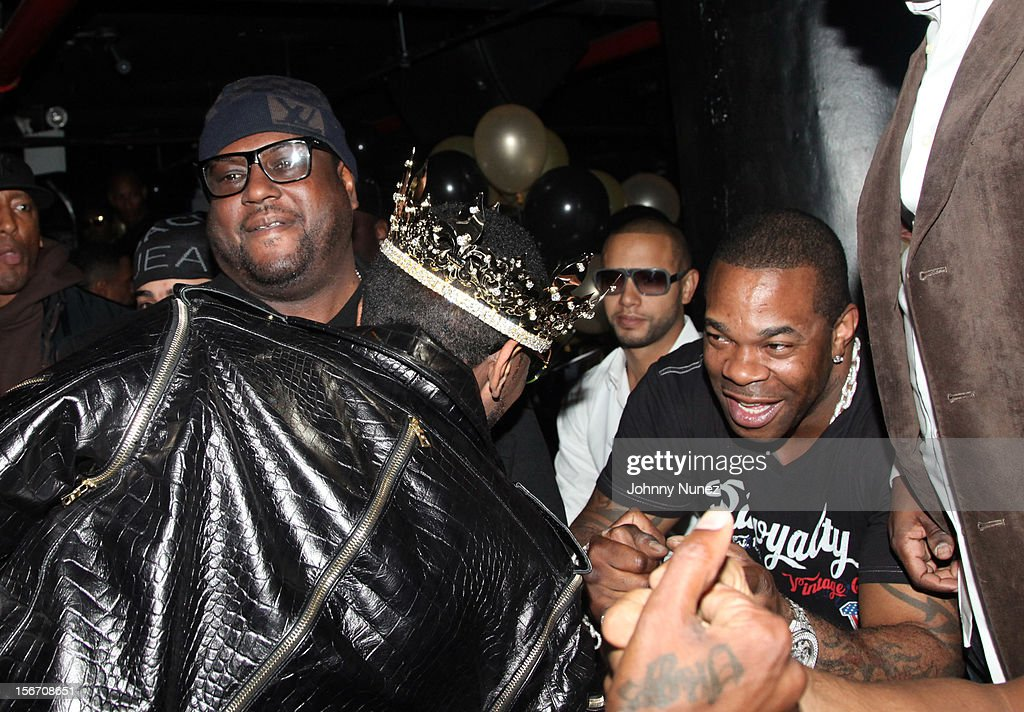 Don Pooh, Fabolous, Director X, and Busta Rhymes celebrate Fabolous' birthday at WIP on November 18, 2012 in New York City.