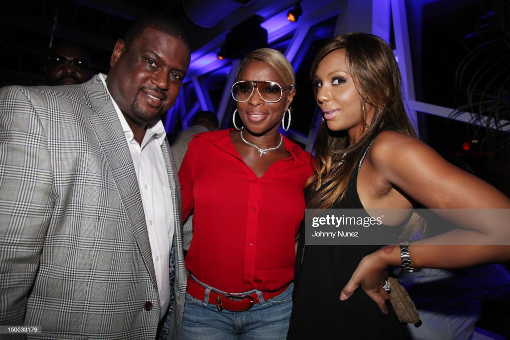 Don Pooh, Mary J Blige and <a gi-track='captionPersonalityLinkClicked' href=/galleries/search?phrase=Tamar+Braxton&family=editorial&specificpeople=2079619 ng-click='$event.stopPropagation()'>Tamar Braxton</a> attend Don Pooh's Birthday Party at Copacabana on August 19, 2012 in New York City.