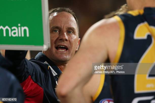 Don Pyke Senior Coach of the Crows during the 2017 AFL round 18 match between the Adelaide Crows and the Geelong Cats at the Adelaide Oval on July 21...
