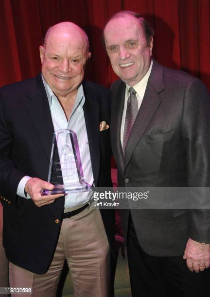 Don Rickles and Bob Newhart during HBO's 13th Annual US Comedy Arts Festival Don Rickles John Landis and Bob Newhart Backstage at Wheeler Opera House...