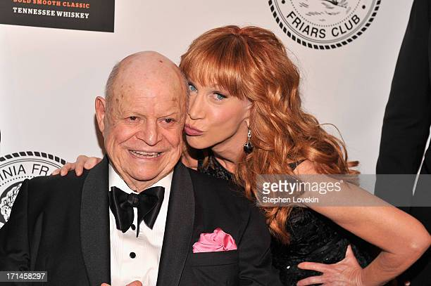 Don Rickles and Kathy Griffin attend The Friars Foundation Annual Applause Award Gala honoring Don Rickles at The Waldorf=Astoria on June 24 2013 in...