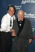 Don Rickles and Tony Danza backstage during intermission at the Westbury Music Fair