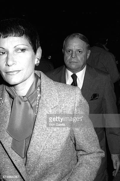 Don Rickles and wife Barbara Rickles attend Jimmy Durante Funeral Service on January 31 1980 at the Church of the Good Shepherd in Beverly Hills...