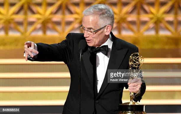 Don Roy King accepts the Outstanding Directing for a Variety Series award for 'Saturday Night Live' onstage during the 69th Annual Primetime Emmy...