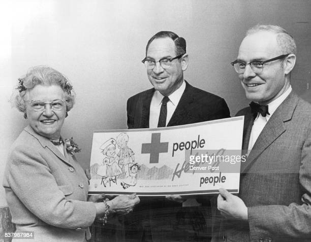Don S Fowler Center Was Reelected chairman of Chapter Others are Mrs Emile Mayer American Red Cross board of directors and Robert Yegge Credit Denver...