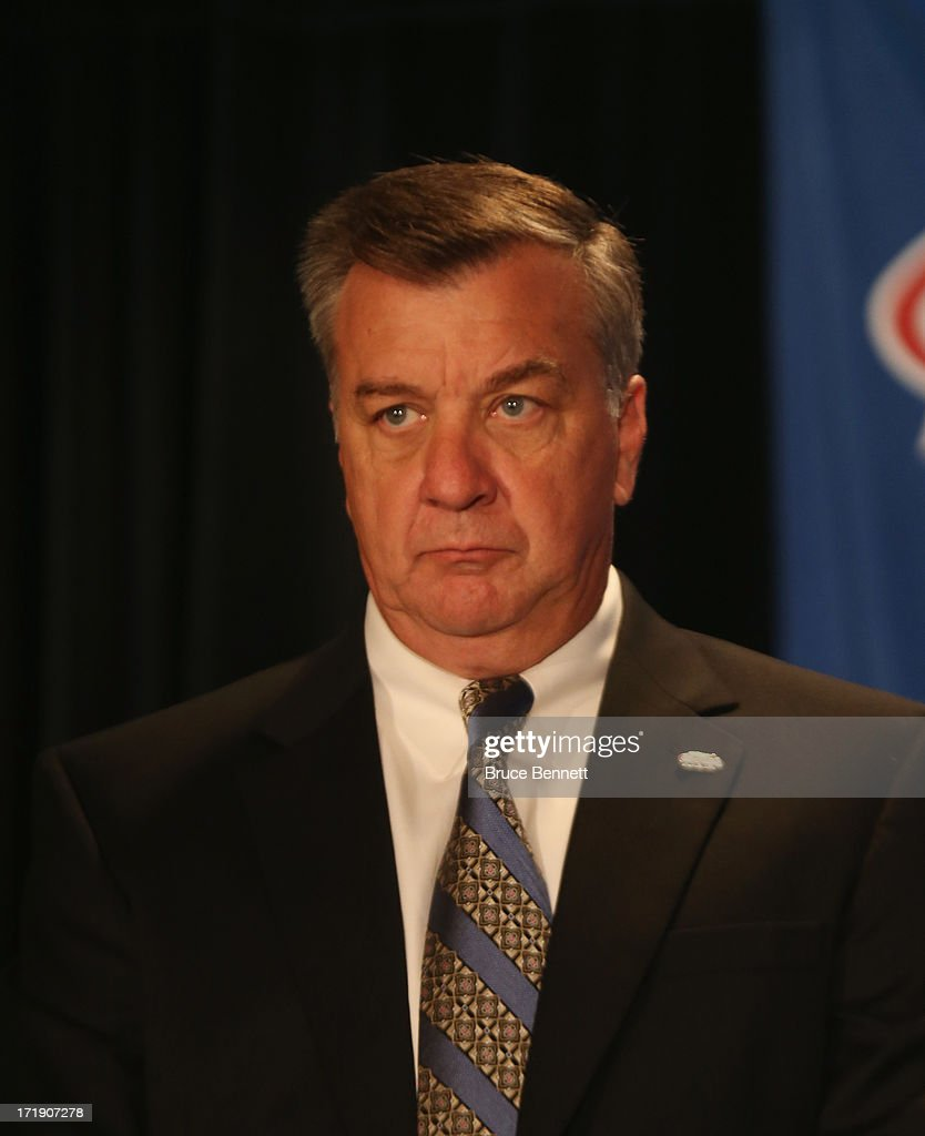 Don Waddel, an advisor to the 2014 Men's Olympic Hockey Team is introduced at the Marriott Marquis Hotel on June 29, 2013 in New York City.