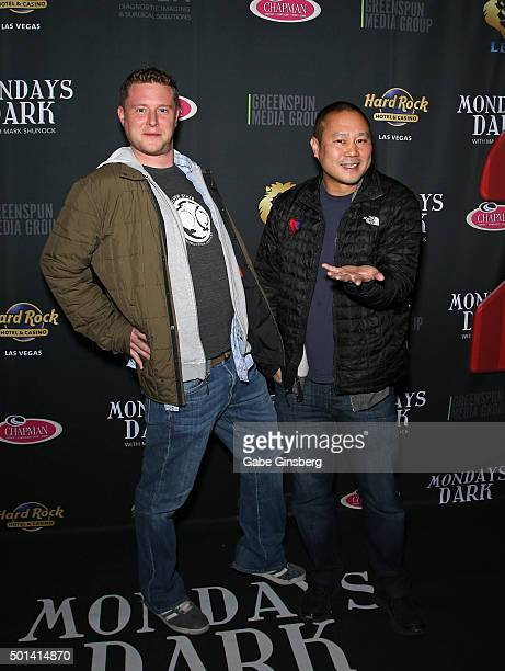 Don Welch and Zapposcom CEO Tony Hsieh attend the Mondays Dark 2nd anniversary at The Joint inside the Hard Rock Hotel Casino on December 14 2015 in...