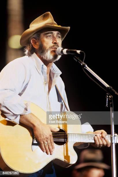 Don Williams performing at Farm Aid at the Hoosier Dome in Indianapolis Indiana on April 7 1990