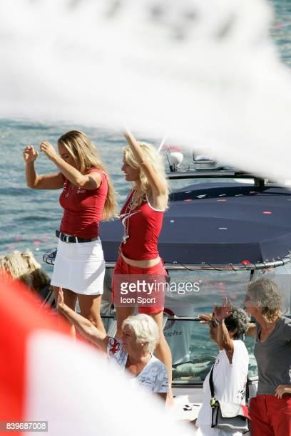 Dona BERTARELLI et Kirsty femme d Ernesto ALINGHI 32eme Coupe de l'America Match 7 America's Cup 2007 Valence