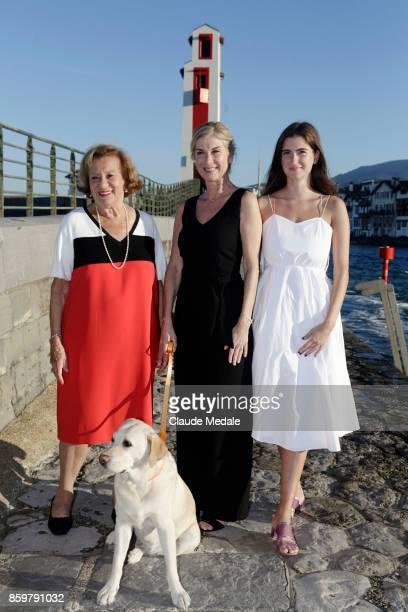 Doïna Trandabur Michèle Laroque Oriane Deschamps attends the 4th International Film Festival of St Jean de Luz on October 7 2017 in Saint Jean de Luz...