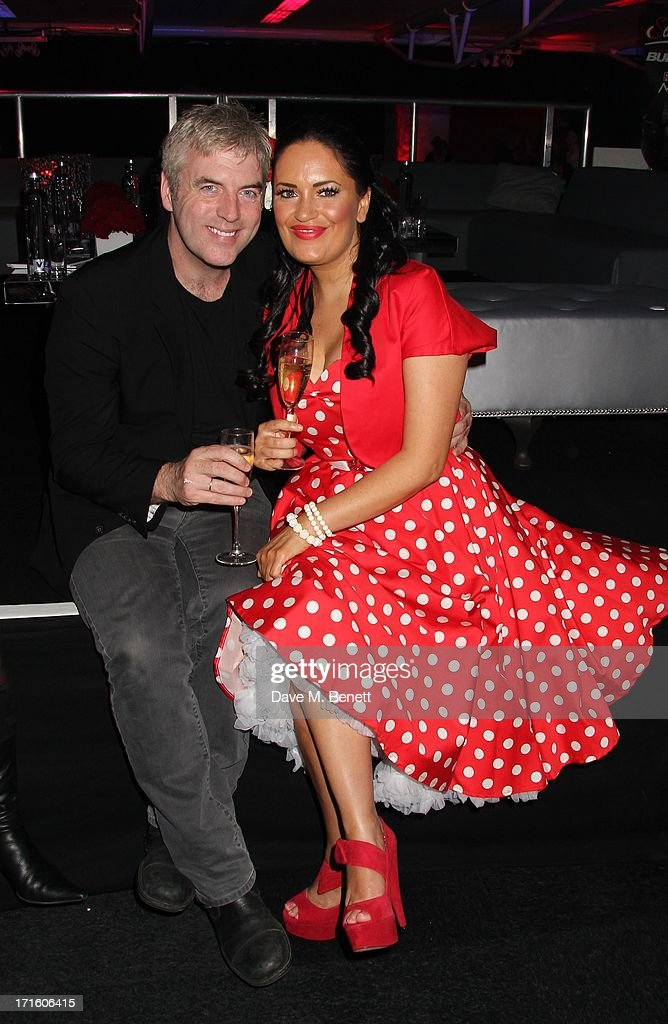 Donal and Amira Mcintyre attend the F1 Party in aid of great ormond street hospital childrens charity at Old Billingsgate Market on June 26, 2013 in London, England.