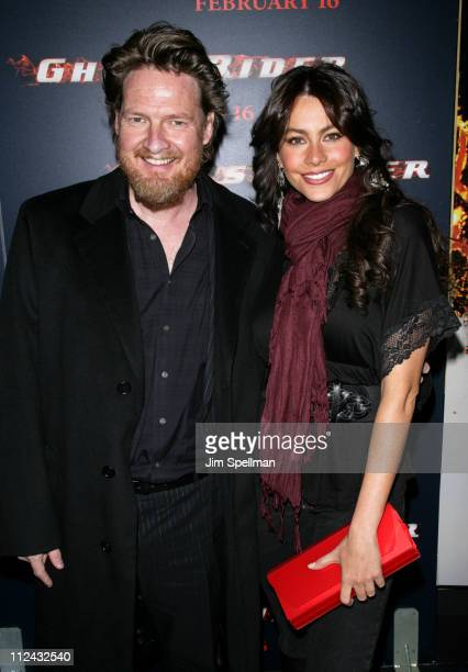 Donal Logue and Sofia Vergara during 'Ghost Rider' New York City Premiere Red Carpet at Regal EWalk in New York City New York United States