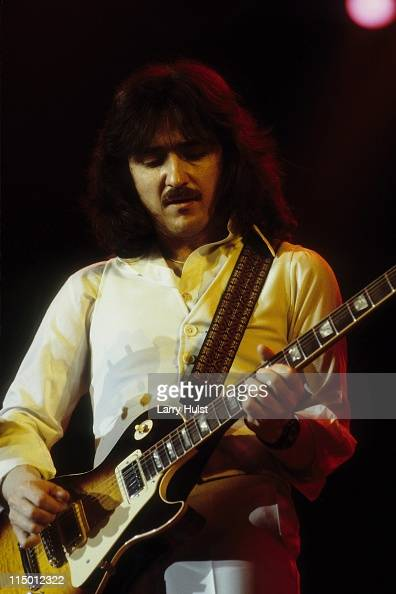 Donald 'Buck Dharma' Roeser performs with 'The Blue Oyster Cult' at the Cow Palace in Daly City California on November 25 1983