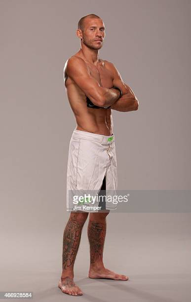 Donald Cerrone poses for a portrait on May 23 2013 in Las Vegas Nevada