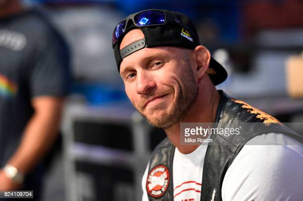 Donald Cerrone waits backstage during the UFC 214 weighin inside the Honda Center on July 28 2017 in Anaheim California