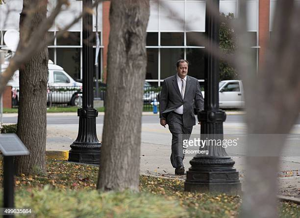 Donald 'Don' Blankenship former chief executive officer of Massey Energy Co arrives at the Robert C Byrd US Courthouse in Charleston West Virginia US...