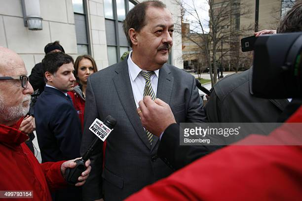 Donald 'Don' Blankenship former chief executive officer of Massey Energy Co exits the Robert C Byrd US Courthouse in Charleston West Virginia US on...