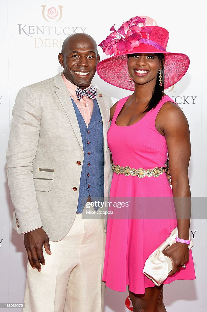 Donald Driver and Betina Driver attends 140th Kentucky Derby at Churchill Downs on May 3, 2014 in Louisville, Kentucky.