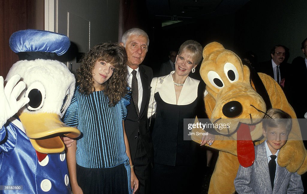 Donald Duck, Tori Spelling, Aaron Spelling, Candy Spelling, Pluto and Randy Spelling
