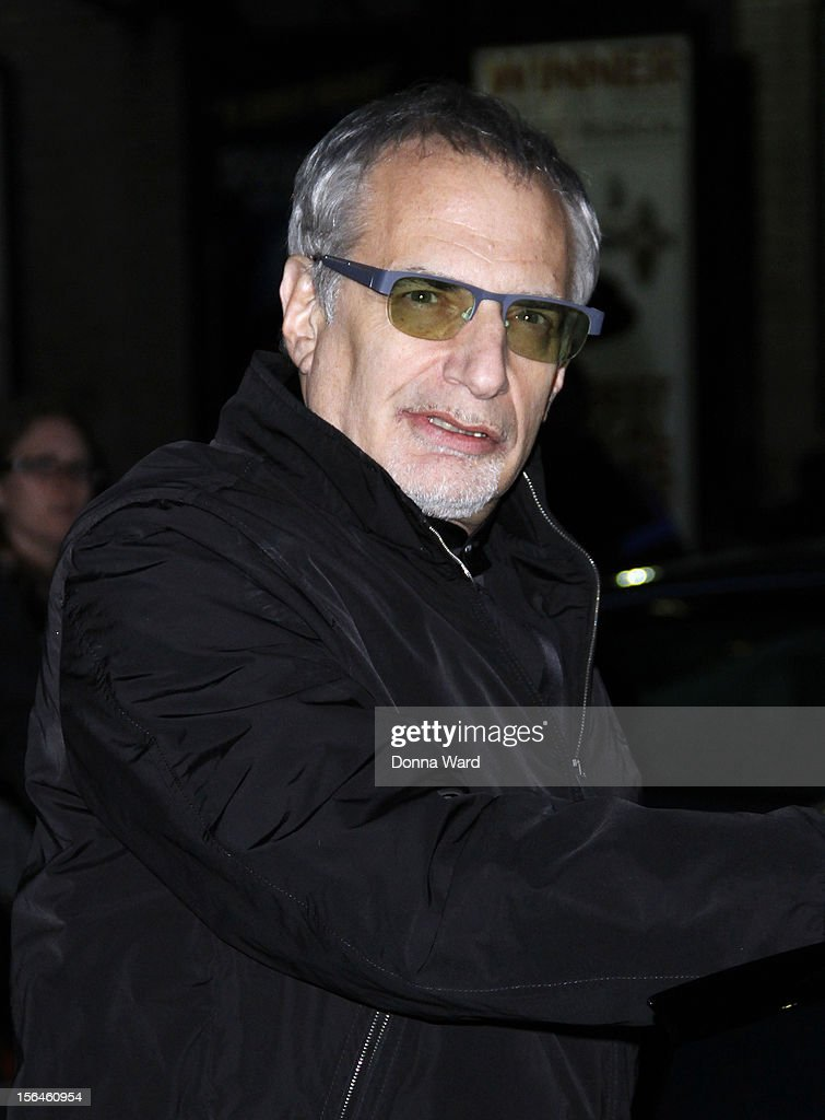 Donald Fagen leaves 'The Late Show with David Letterman' at Ed Sullivan Theater on November 15, 2012 in New York City.