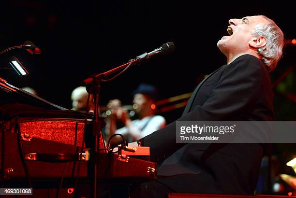 Donald Fagen of Steely Dan performs during the 2015 Coachella Valley Musica and Arts Festival at The Empire Polo Club on April 10 2015 in Indio...