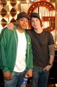 Donald Faison and Singer/Songwriter Gavin DeGraw on the set of the video for Chariot the title track from DeGraw's platinumselling debut album