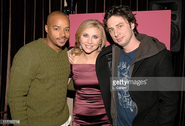 Donald Faison Sarah Chalke and Zach Braff during Lifetime Presents 'Why I Wore Lipstick to My Mastectomy' Los Angeles Screening at Social in...
