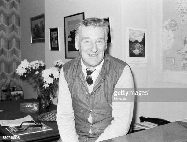 Donald 'Ginger' McCain the trainer of famous champion racehorse Red Rum pictured in his office at his stables in Southport Merseyside ahead of the...