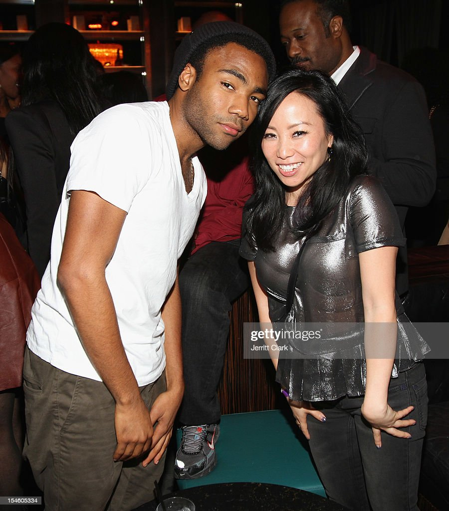 Donald Glover aka Childish Gambino and Miss Info attend Gabrielle Union's 40th Birthday Party With Courvoisier Gold at the Dream Downtown on October 22, 2012 in New York City.