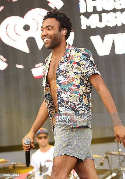 Donald Glover aka Childish Gambino performs onstage during the 2014 iHeart Radio Music Festival Village held at The Lot at MGM Grand Resort and...