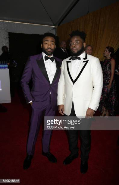 Donald Glover and Stephen Glover on the Red Carpet at the 69TH PRIMETIME EMMY AWARDS LIVE from the Microsoft Theater in Los Angeles Sunday Sept 17 on...