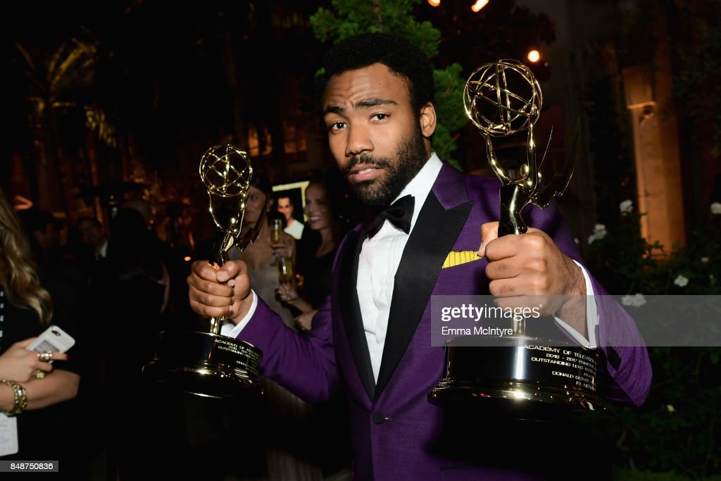 Donald Glover attends FOX Broadcasting Company, Twentieth Century Fox Television, FX And National Geographic 69th Primetime Emmy Awards After Party at Vibiana on September 17, 2017 in Los Angeles, California.