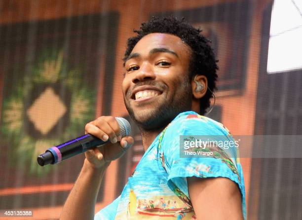Donald Glover of Childish Gambino performs at Bud Light stage during 2014 Lollapalooza Day Three at Grant Park on August 3 2014 in Chicago Illinois